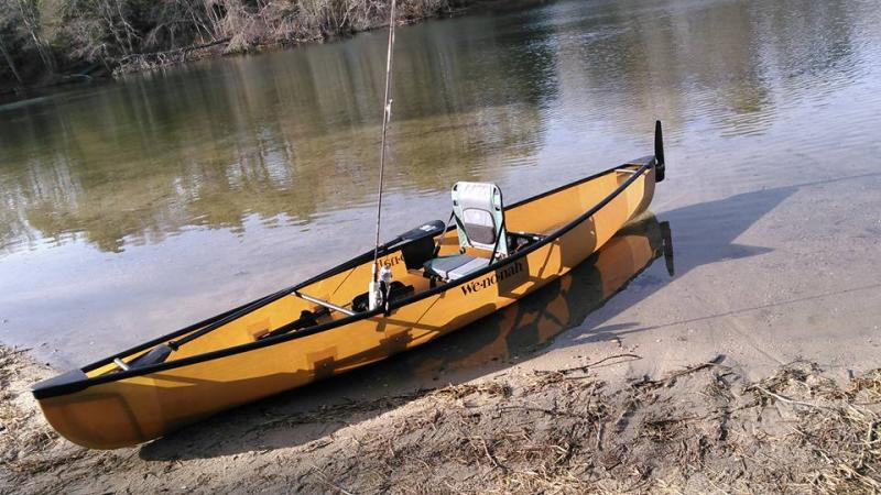Ultralight fishing canoe massachusetts fishing surftalk for Fishing canoe setup