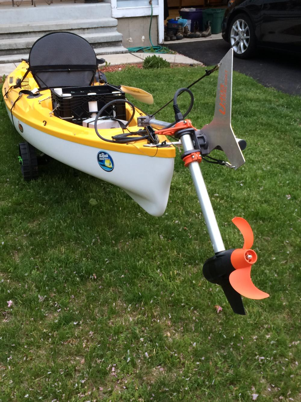 Wts 14 39 Eddyline Carribean Kayak W Torqeedo Ultra Light
