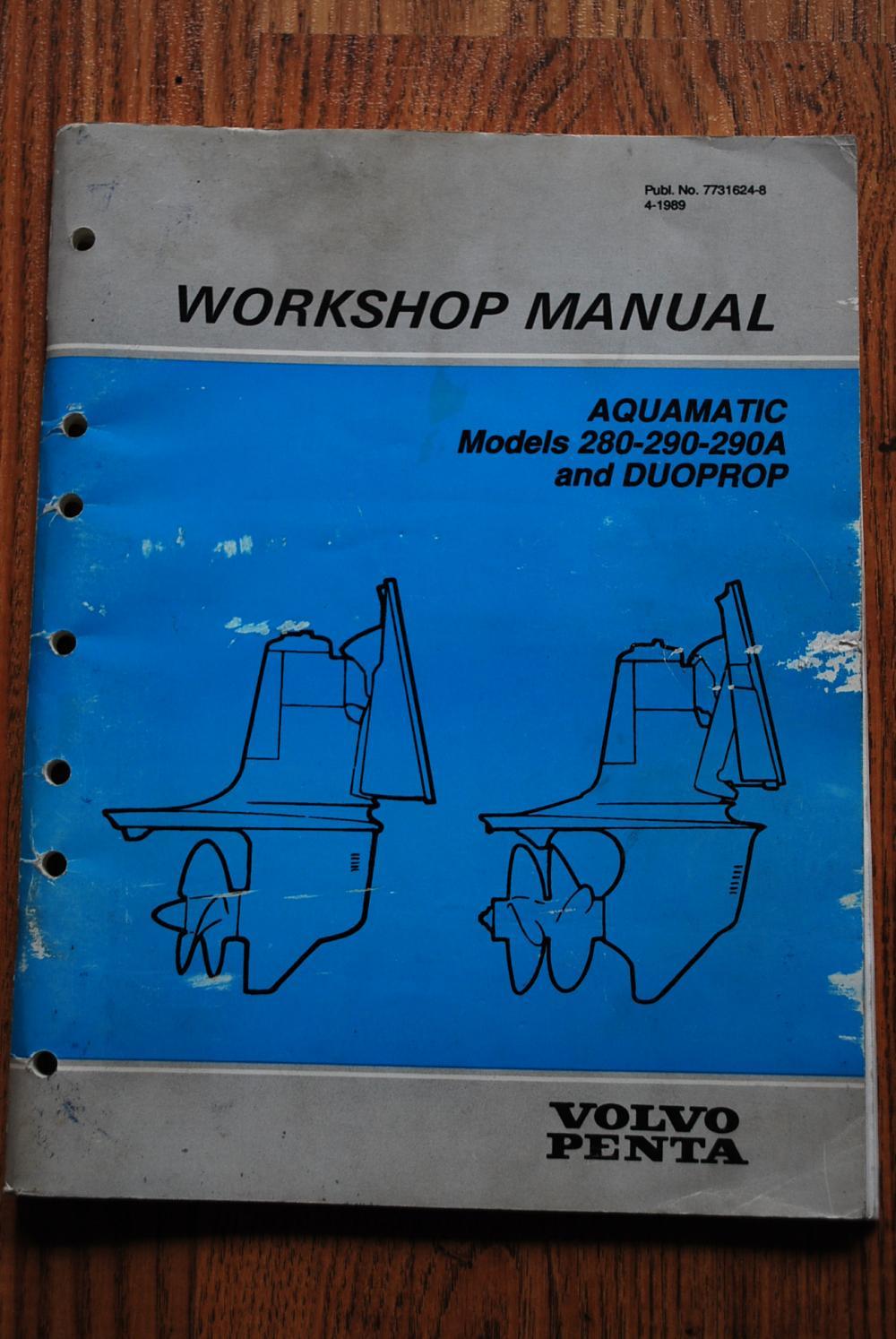 volvo penta workshop manual for duoprop 290 290a 280 outdrives rh stripersonline com volvo penta 280 outdrive workshop manual volvo penta 280 dp manual