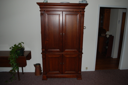 As You Can See From My TV Armoire Each Door Is Actually A 2 Part Door  System. I Can Open Them Up 180 Deg. Or They Can Open Up Further To Lay ...