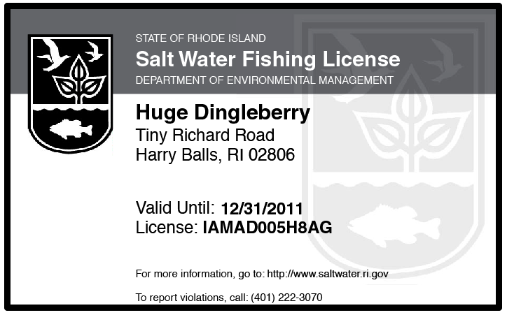 rhode island saltwater fishing license page 3 images