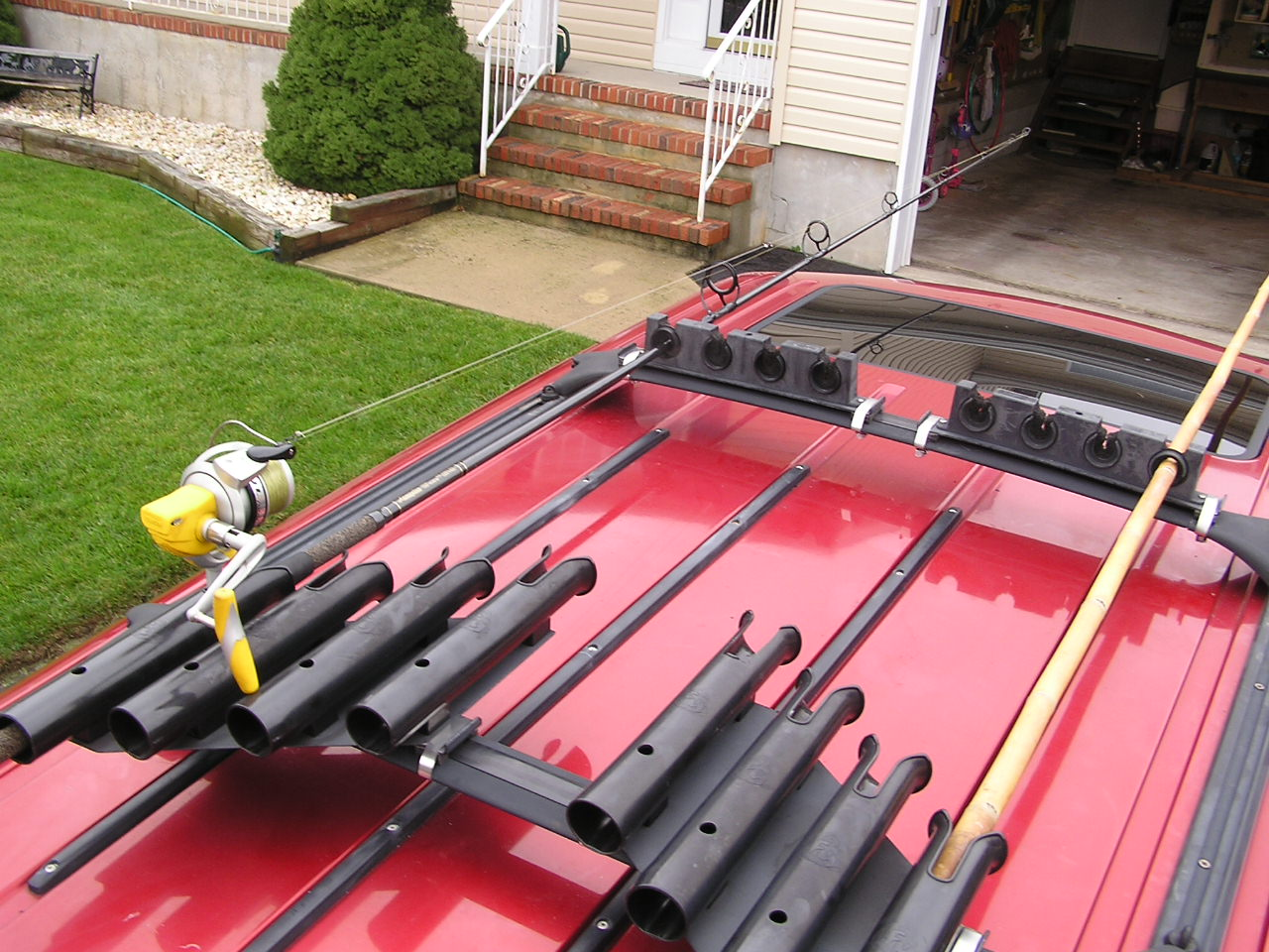 Roof racks lets see them page 4 for Roof rack fishing pole holder