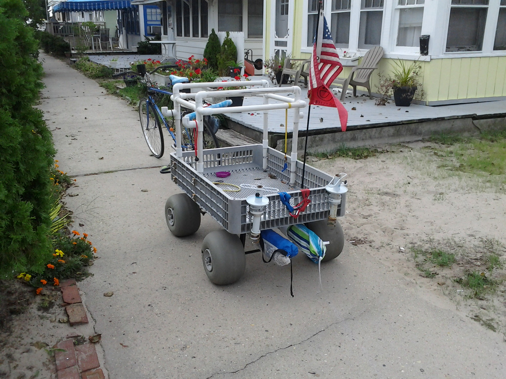 My 1st Surf Fishing Cart What Do You Guys Think