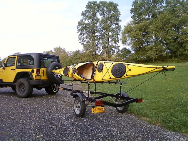 This Is A Jet Ski Trailer With Rack From Oak Orchard Canoe Kayak Rochester Thatll Haul Two To Three Yaks The Hard Ride Designed For