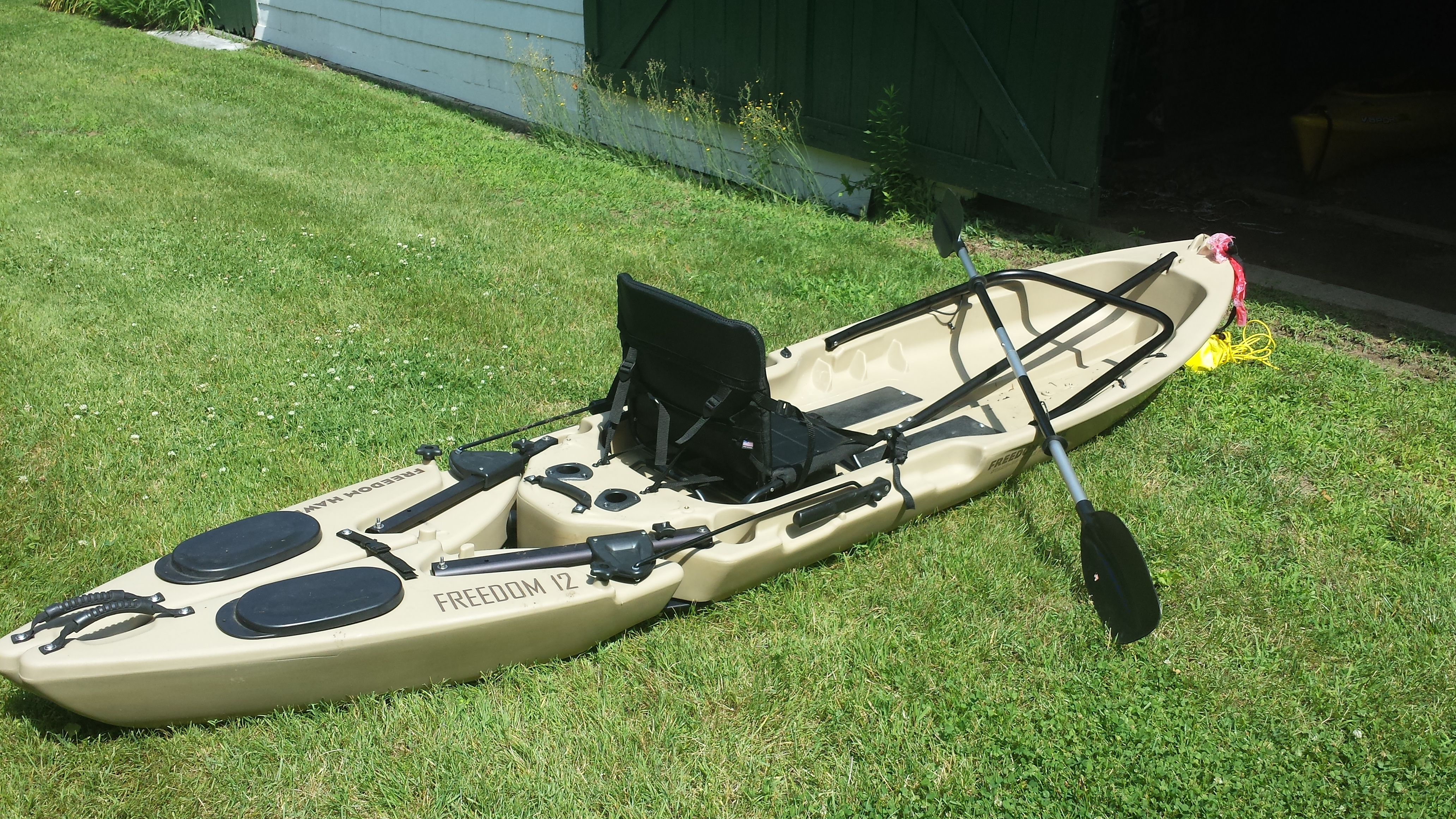 Freedom hawk 12 fishing kayak for sale kayaking and for Fishing kayaks for sale cheap