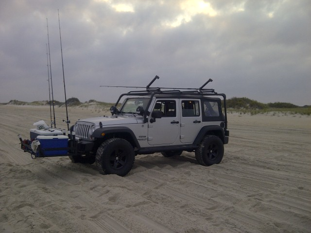 Jeeps rigged for surf fishing gallery diagram writing for Jeep fishing rod holder