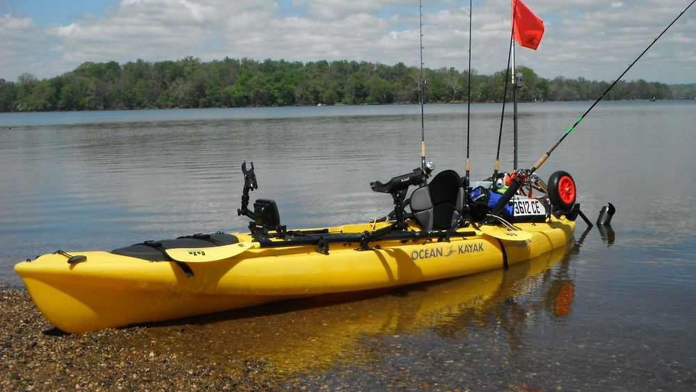 2009 ocean kayak prowler big game with bass yaks electric