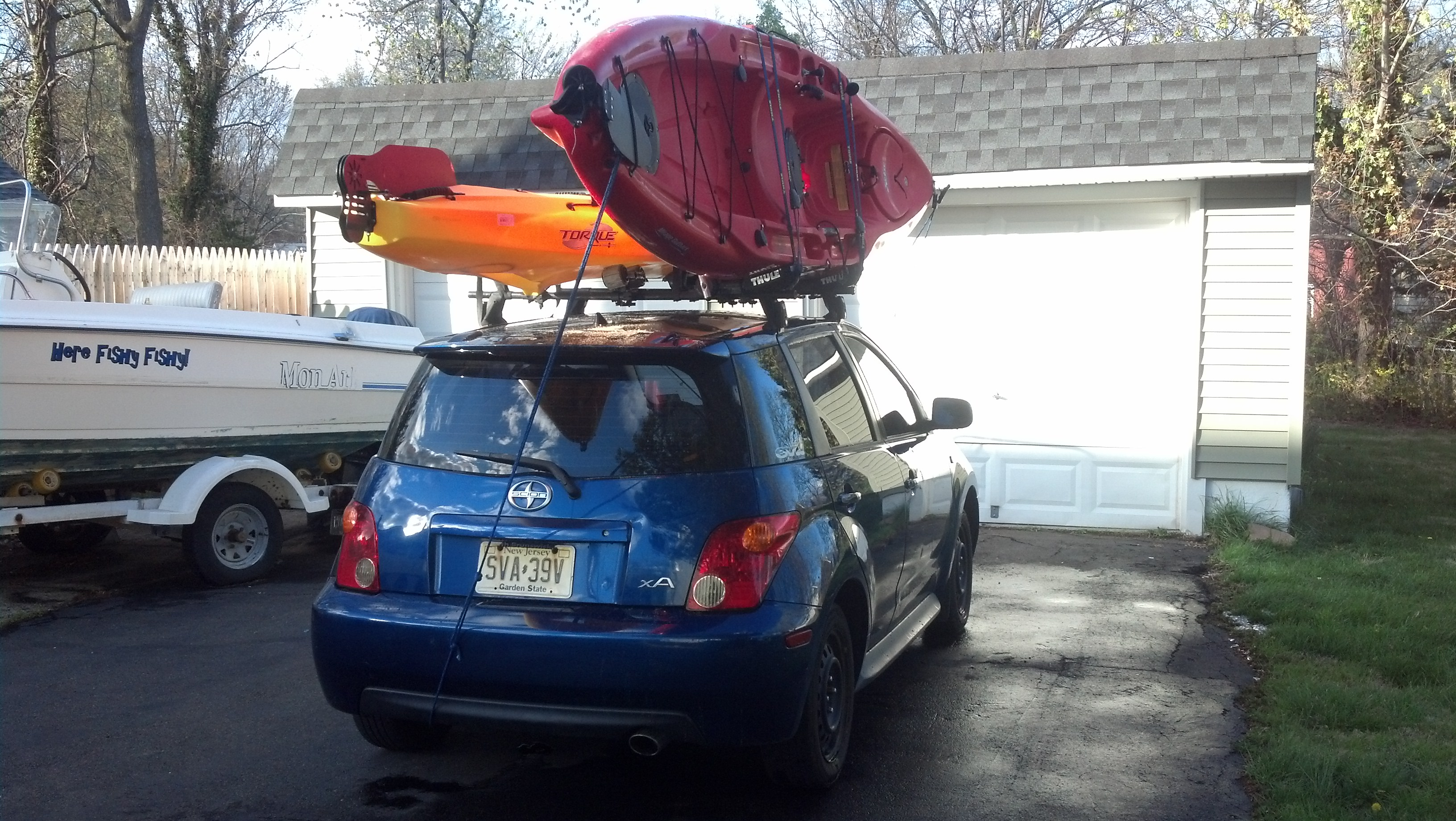 Almost 170 Combined Weight On Top Of A Scion Xa Yakima Bars. I Dont Think  The Weight Limit Matters.