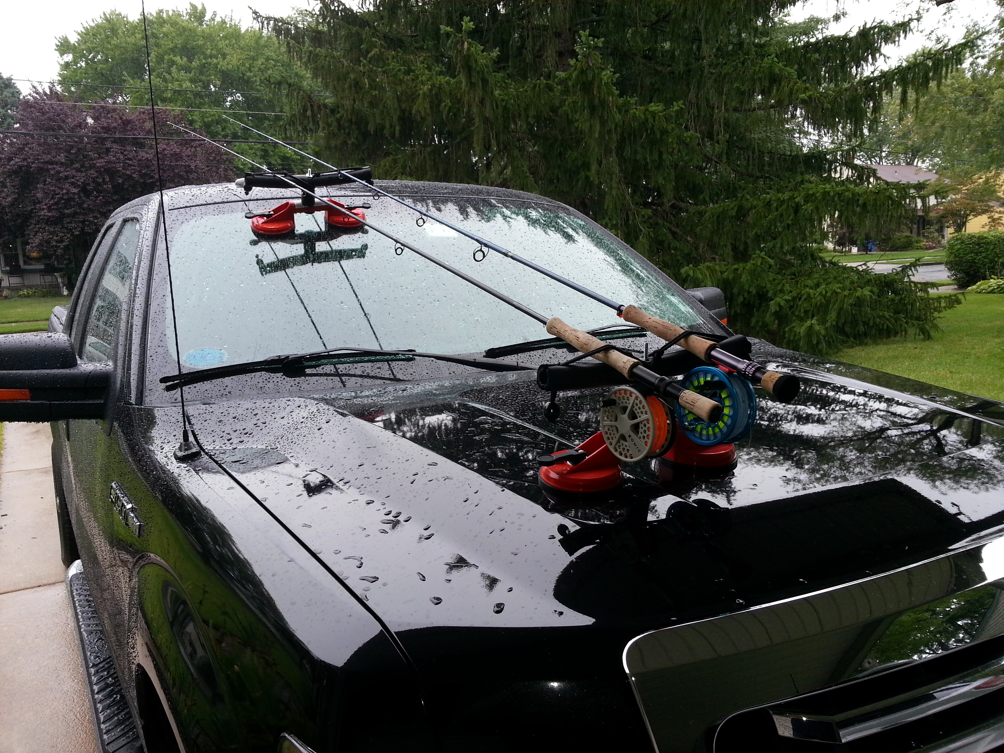 Diy fly rod holder for truck do it your self for Fly fishing rod holder