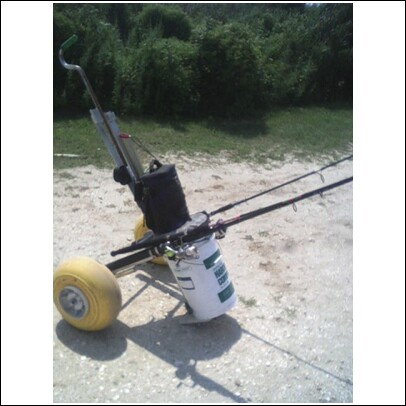 Building the ultimate surf fishing cart page 4 main for Golf cart fishing rod holder