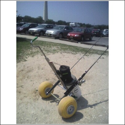 Building the ultimate surf fishing cart main forum for Golf cart fishing rod holder
