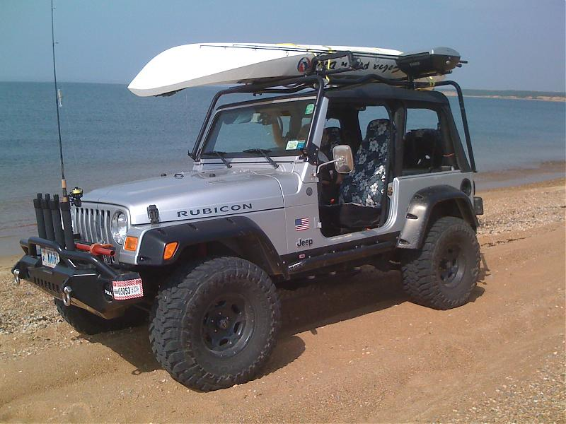 Jeep wrangler roof rod rack beach buggy forum surftalk for Jeep fishing rod holder
