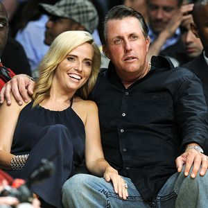 Keep a good thought for amy mickelson sports forum surftalk ap photochris pizzelloamy mickelson seen with her husband phil at a recent lakers playoff game has been diagnosed with breast cancer junglespirit Gallery