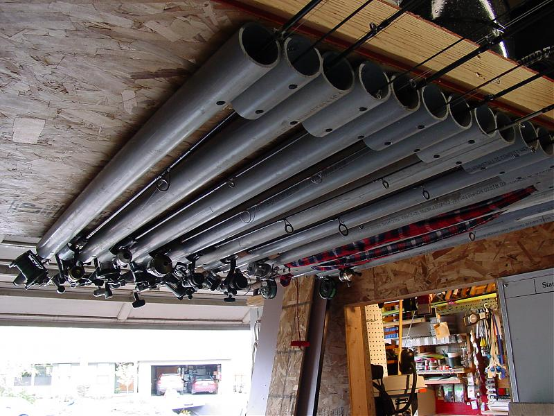 Ceiling Fishing Rod Holder Plans Mail Cabinet