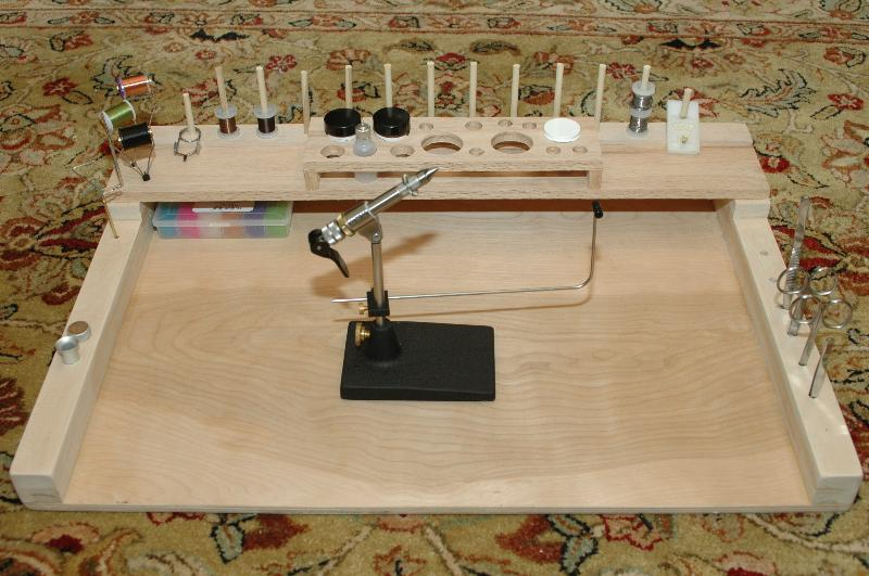 Diy fly tying bench from the new guy fly tying forum for Homemade fish cleaning table