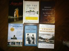 WTS fishing books, Hemmingway, and Into the Wild