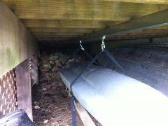 Under deck Kayak storage system