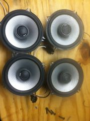 WTS Alpine head unit Polk Audio speakers