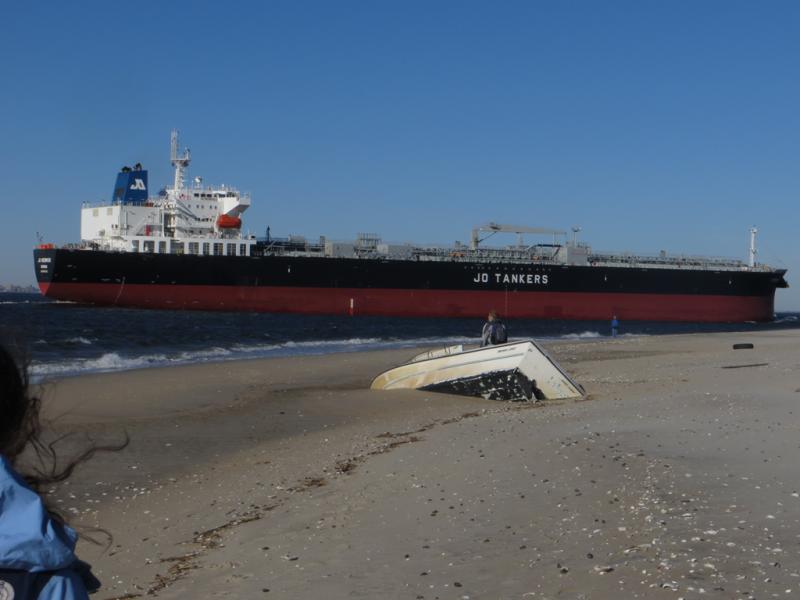 Major fuel spill - 2 mile slick by NWS Earle, Sandy Hook Bay
