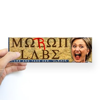 moron_labe_hillary_clinton_bumper_sticker.jpg?color=White&height=350&width=350