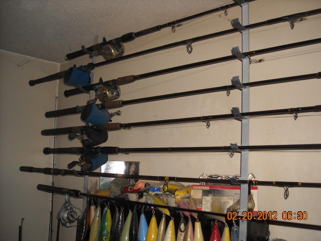 my custom rod rack.