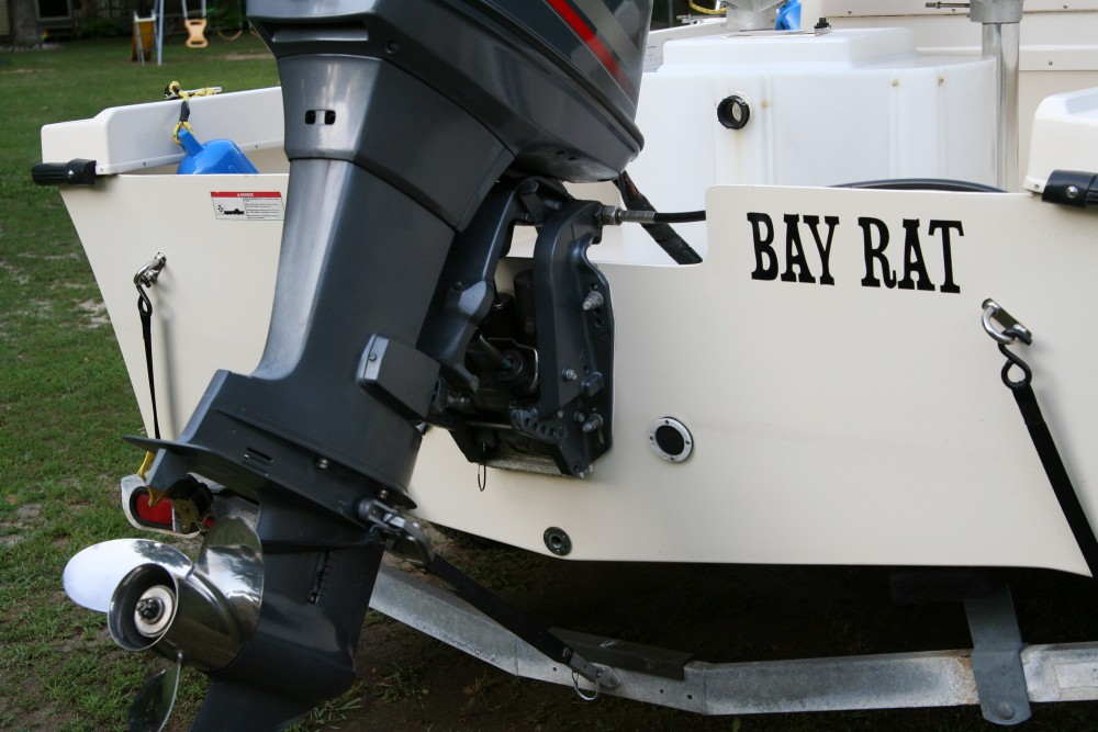 My boat, The BAY RAT.