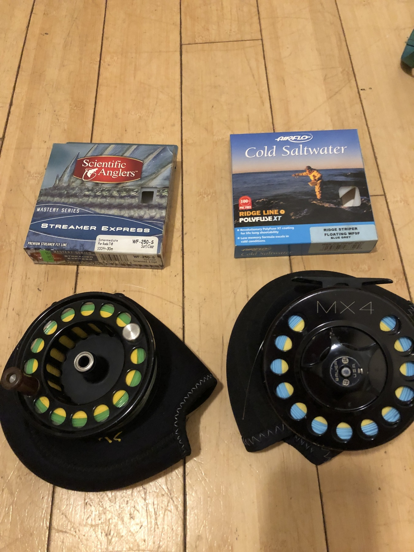 Bauer MX4 reel and spool plus lines