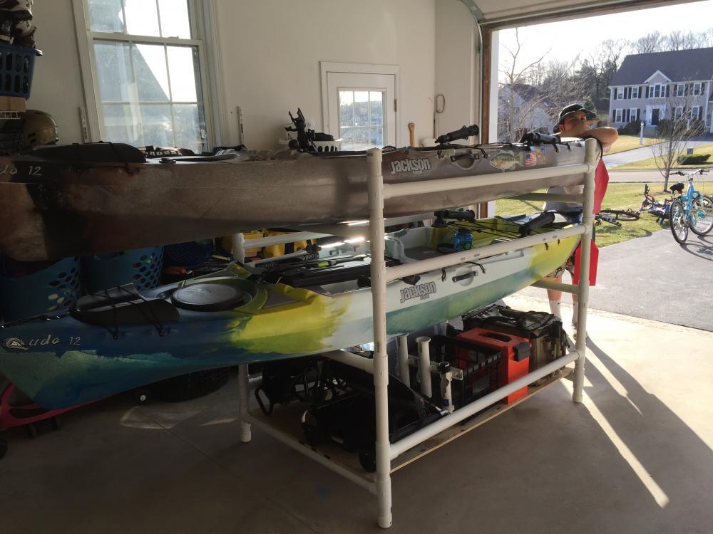 Diy Kayak Rack Storage Kayaking And Kayak Fishing Forum
