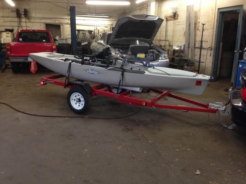 for guys that ve built kayak trailers kayaking and kayak fishing