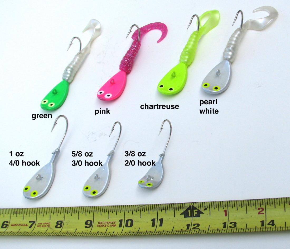5 Bucktail Fishing Jigs Lures Fluke Flounder Stripers 1//4 1 Oz 1//2 3//4 3//8