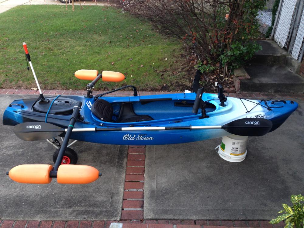Old Town Trip Angler 10 Complete Kayak Fishing Package