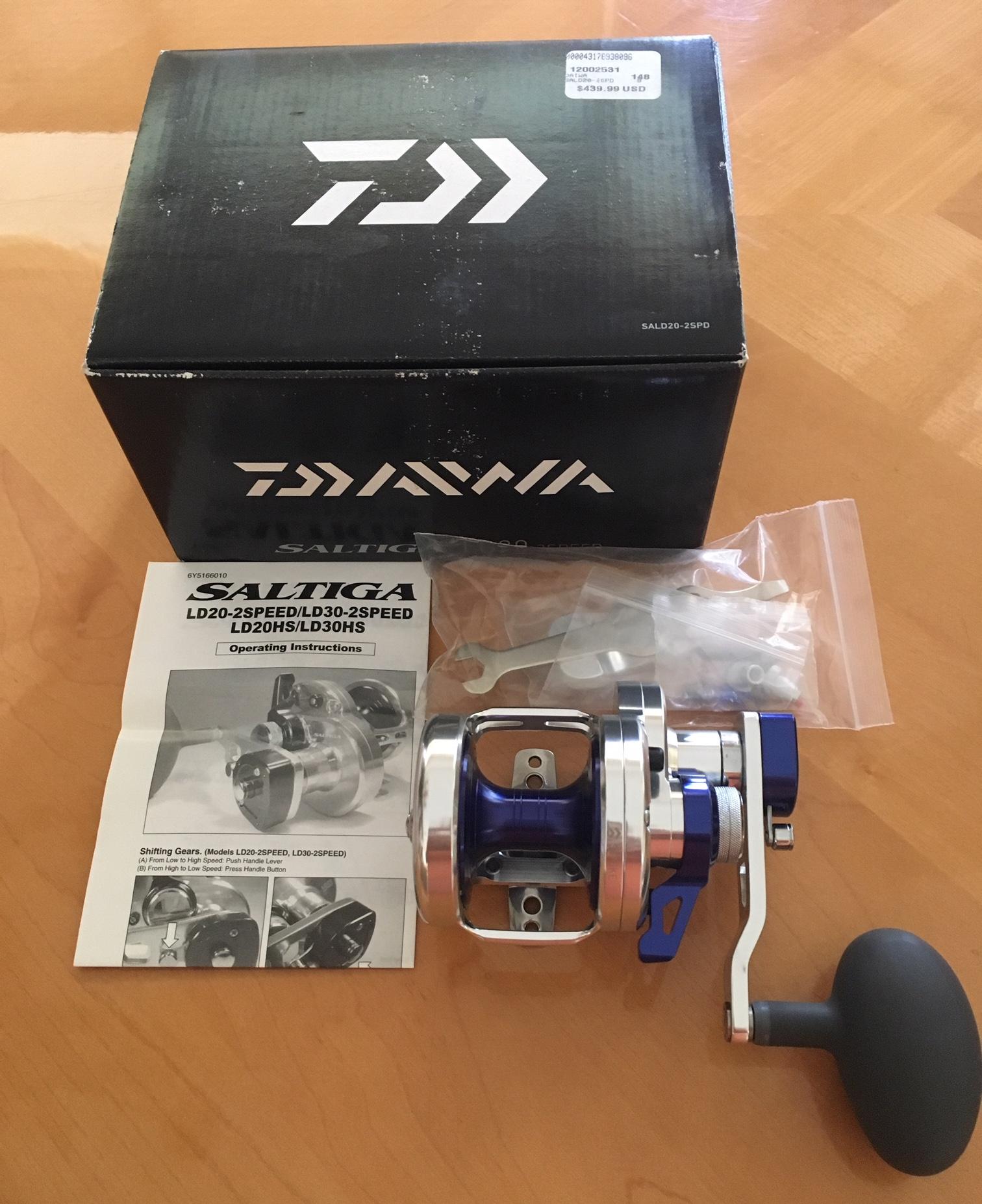 a3c992fb809 FS Daiwa Saltiga LD20 (SALD20-2SPD) 2-Speed Lever Drag Reel ...