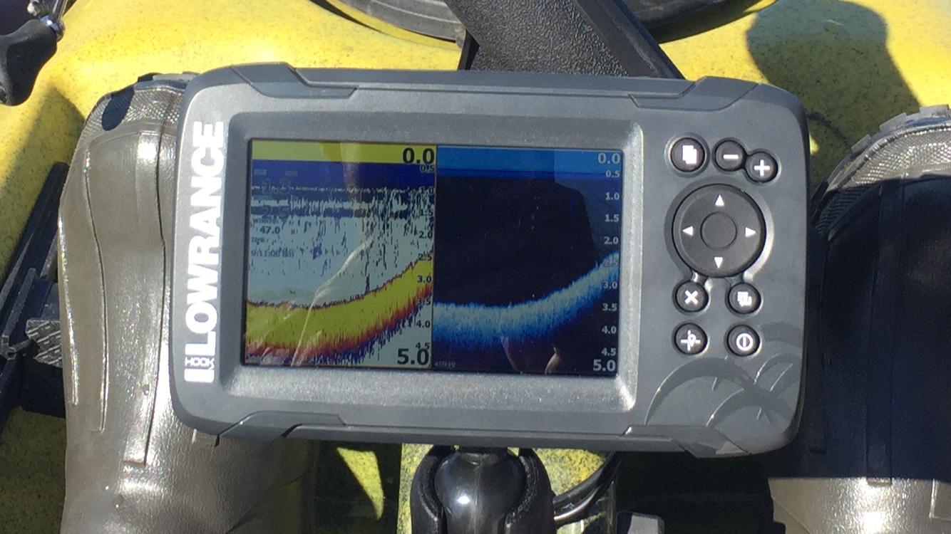 Vertical lines on fish finder - Kayaking and Kayak Fishing Forum