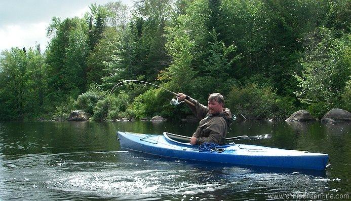Big smallmouth bass kayak