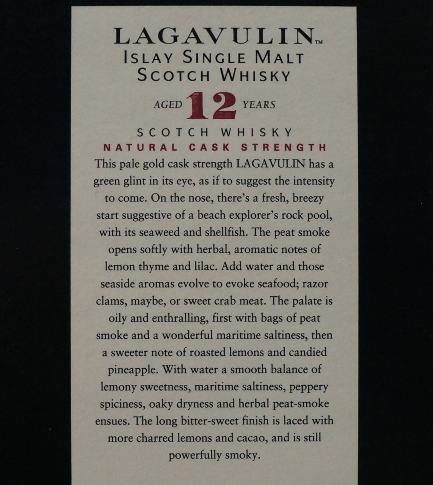 Lagavulin  12 year old 1.4.18 001.JPG