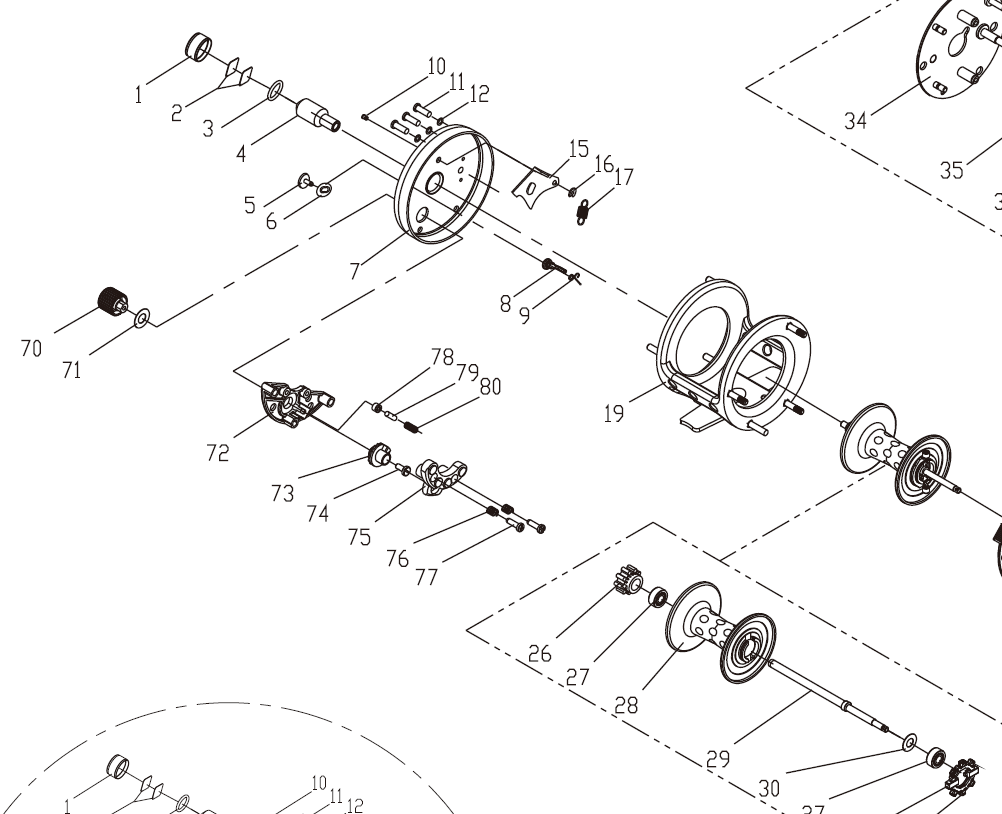 Omoto CXS Speed bushing and cog arrangement.png