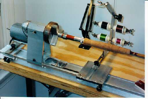 how to make a fishing rod lathe