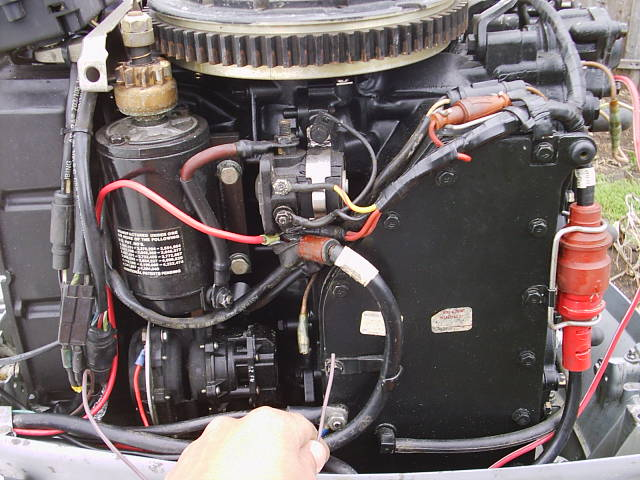 70 hp evinrude problems pics boating and boat fishing forums oh and there s a wire coming off the box thats cut whats it for there s also a tan wire on the motor that goes to another tan wire should i connect