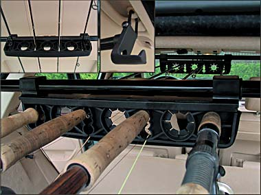 Internal suv rod racks page 2 beach buggy forum surftalk for Suv fishing rod holder