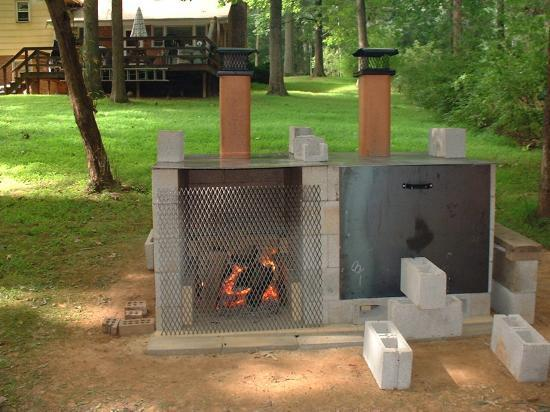 how to make a brick barbecue pit